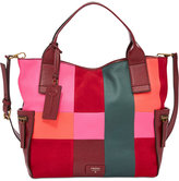 Fossil Emerson Patchwork Leather Satchel