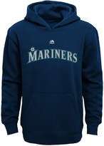 Majestic Kids' Seattle Mariners Wordmark Fleece Hoodie, Big Boys (8-20)