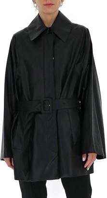 MM6 MAISON MARGIELA Faux Leather Belted Jacket