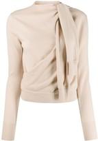 Chloé tied sleeve detail jumper