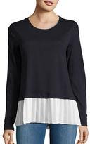 MICHAEL Michael Kors Crewneck Mock Layer Sweater