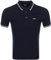 Giorgio Armani Jeans Tipped Polo T Shirt Navy