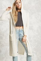 Forever 21 FOREVER 21+ Purl Knit Hooded Cardigan