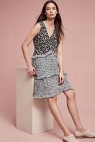 Anna Sui Blueflower Silk Swing Dress