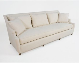 "Theo 84"" W Recessed Arm Sofa Gabby Body Fabric: Antibes Charcoal, Leg Color: Metropolitan, Cushion Type: Spring Down"