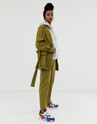 ASOS DESIGN safari suit pants