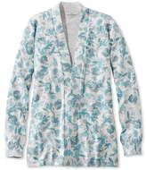 L.L. Bean Premium Supima Cotton Sweater, Open Cardigan Floral