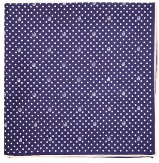 Gucci GG Polka-for Print Silk-faille Pocket Square - Blue Multi