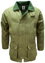 Mens Green Tweed Waterproof Breathable Country wear Jacket Coat by WWK / WorkWear King