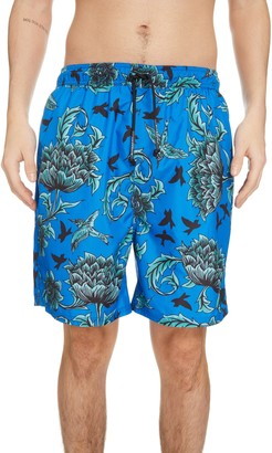 Givenchy Atlantis Floral Swim Trunks