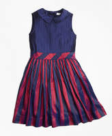 Brooks Brothers Sleeveless Stripe Silk Dress