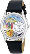 Whimsical Watches Women's S0420003 Drama Theater Royal Blue Leather Watch