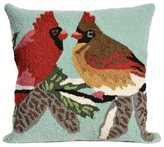 "Liora Manné Frontporch Cardinal Birds Pillow Blue - (18""x18"") Square"