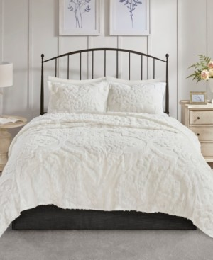 Madison Home USA Viola King/Cal King 3 Piece Cotton Chenille Damask Coverlet Set