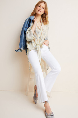 Mother The Weekender High-Rise Flare Jeans By in White Size 25
