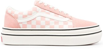 Vans Pink Checkerboard Signature Chunky Trainers