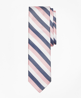 Brooks Brothers Tri-Tone Stripe Silk Tie