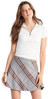 Aeropostale Womens Prince & Fox Plaid A-Line Skirt