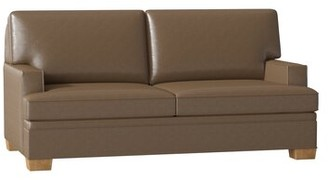 """Columbia Recessed Arm Loveseat Duralee Furniture Body Fabric: Gray, Size: 72"""" W"""