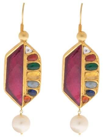 Amrapali 18/22k yellow gold Gold Stone Earrings
