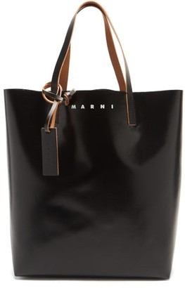 Marni Heart-print Bi-colour Pvc Tote Bag - Black White