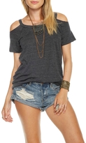 Chaser Vintage Cold Shoulder Tee