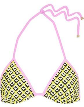 Diane von Furstenberg Moss Printed Triangle Bikini Top
