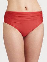 Lenny Niemeyer Swim High-Waisted Ruched Bikini Bottom