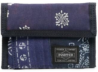 Neighborhood x Porter bandana print wallet