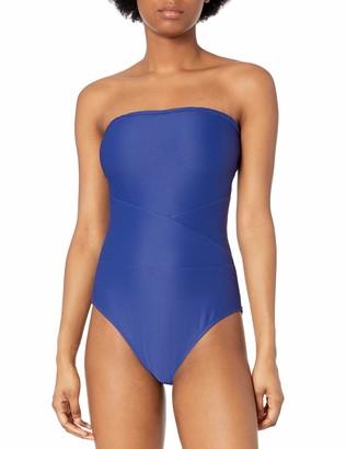 Rachel Roy Women's Seamed Bandeau One Piece Swimsuit