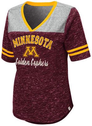 Colosseum Women Minnesota Golden Gophers Mr Big V-neck T-Shirt