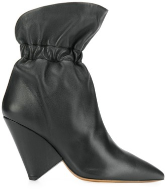 Isabel Marant gathered-ankle cone-heel boots