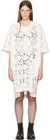 Comme des Garcons Off-white Lace T-shirt Dress
