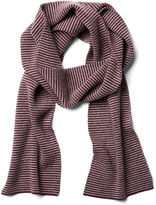 Portolano Men's Striped Scarf, Bordeaux