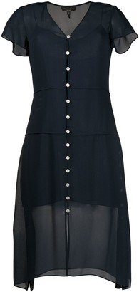 Rag & Bone Mccormick button-down chiffon dress