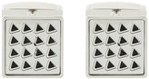 HUGO BOSS engraved pattern square cufflinks