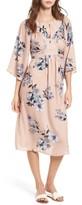 One Clothing Women's Floral Print Kimono Midi Dress