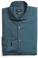 BOSS Men's 'Jery' Ww Slim Fit Easy Iron Solid Dress Shirt