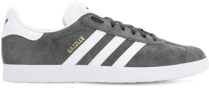 Adidas Gazelle Grey Mens | Shop the