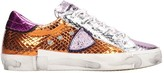 Philippe Model Prsx Sneakers In Orange Leather