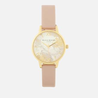 Olivia Burton Women's Abstract Florals Watch - Vegan Rose Sand/Gold