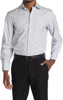 Thomas Pink Supraluxe Dobby Stripe Print Shirt
