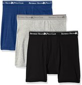 Beverly Hills Polo Club Men's 3 Pack Solid Boxer Brief
