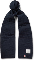 Thom Browne - Hector Quilted Cotton-piqué Scarf