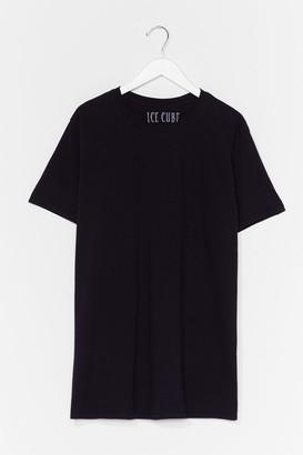 Nasty Gal Womens Ice Cube License T-Shirt Dress - Black - S