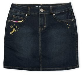 P.S.09 From Aeropostale Unicorn Embroidered Denim Skirt (Little Girls & Big Girls)