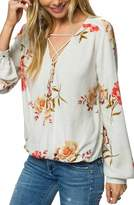 O'Neill Women's Belle Lace Up Blouse