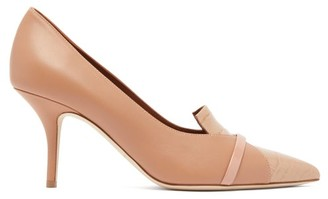 Malone Souliers Dina Panelled Leather Pumps - Womens - Nude