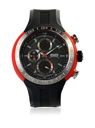 Munich Unisex Adult Analogue Quartz Watch with Rubber Strap MU+114.1A