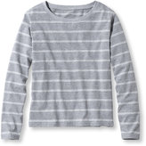 L.L. Bean Women's Saturday T-Shirts, Boatneck Long-Sleeve Stripe